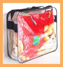 plastic tote bag for blanket packaging