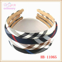 Hot sale classical design plaid cloth hair band for women