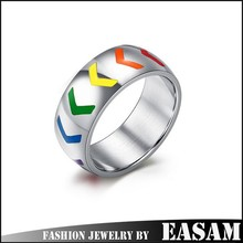 Fashion stainless steel gay men ring/gay wedding ring