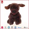 Dark brown tongue dog stuffed plush animals kids toys China