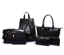 2015 New fashion summar backpack+tote bag+clutch bag+shoulder bag+cosmetic bag+wallet