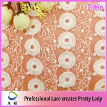 Bridal dress making top quality bulk price circle tulle mesh milk silk lace