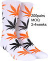 bulk atacado branco folha de marijuana meia