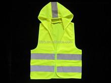 Kids reflective safety vest with a hat