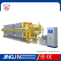 Hydraulic power press machine for waste water treatment