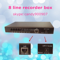Good quality 8 port voice recorder detector 8 line recorder box stand alone voice logger with 8G memory