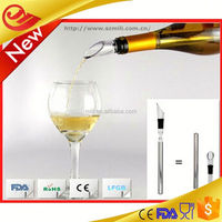 Metal Wine Chiller Stick Perfectly Chilled Wine Every Time! Chill, Seal and Pour