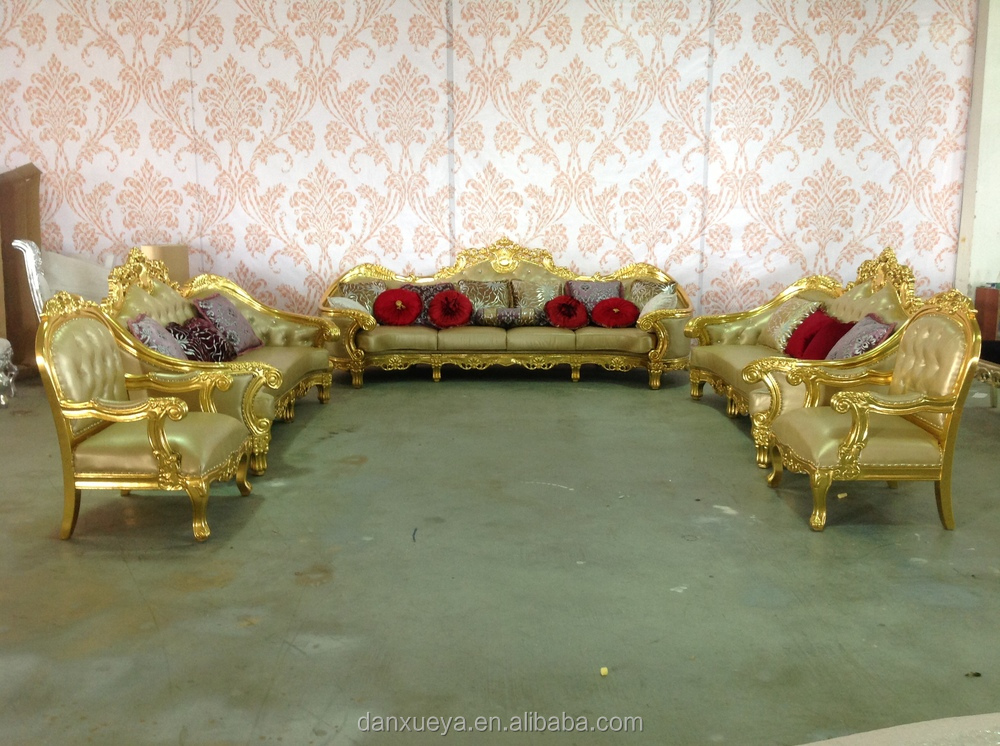 Danxueya Luxury Wood Frame Gold Guangzhou Furniture Fancy