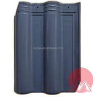 bent type matte grey ceramic roof tile