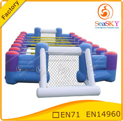 Popular selling inflatable table soccer field , Human football table for sales