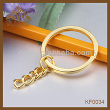 high quality plated beautiful key ring for lanyards