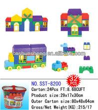 Los niños juguetes de ladrillo, juguete de la espuma de ladrillo, casa de bloque, ladrillo bloque de juguetes