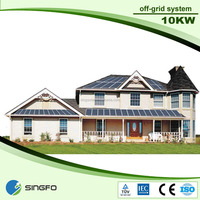 10KW off grid solar power system with certificate for flat /pitch/hipped roof