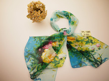 spring flower comfortable for women's long scarf