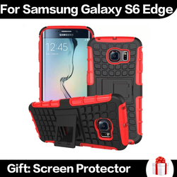 For Samsung Galaxy S6 Edge Shell,Case For Samsung S6 Edge,Cheap 2 in 1 Mobile Phone Case For Samsung S6 Edge