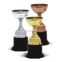 Plastic gifts sports awards die casting plastic golden trophy