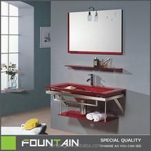 Glass Bathroom Washing Basin Vanities Bathroom Furniture Color Washing Furniture