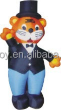 inflatable tiger/ inflatable moving cartoon characters/inflatable model for sale