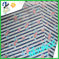 Hot sale navy blue and white stripe fabric with cheap price