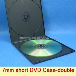 black PP 7mm short black mini plastic cd case