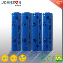 18650 li-ion rechargeable battery 3.7v 1800mAh--2400mAh li ion battery 3.7v 1100mah battery