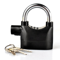 15 Anti Thief Sound Security Motorcycle padlocks alarm lock with master key