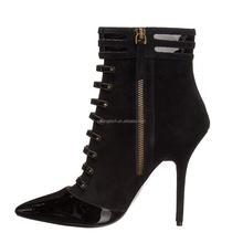 2015 jusity pu scarpe in pelle da donna cavaliere nero stivali di sicurezza a spillo stivali tacco alto scarpe