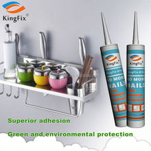 white color Long shelf life strong adhesion nail free bond adhesive for Wood line