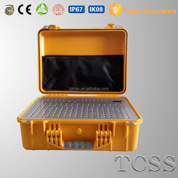 waterproof dust proof electronic plastic case with rubber handle