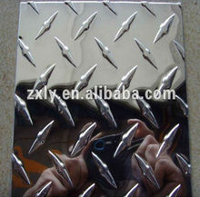 Hot sale mirror embossed aluminum sheet with 5 bar/3 bar/1 bar/hammer/diamond pattern