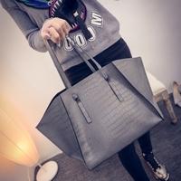 Hot sale 2 pcs in 1 set brand Fashion handbags for Girl oversize big bag