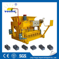 hydraulic press mobile concrete block machine QMY6-25 products you can import from china