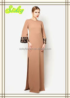 Fancy Traditional Muslim dress Islamic Clothing Flash Arabic Abaya Maxi Dress simple style