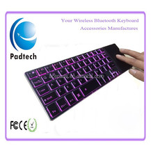 Aluminum 2.4Ghz Touch Screen Wireless Keyboard for PC / Smart TV