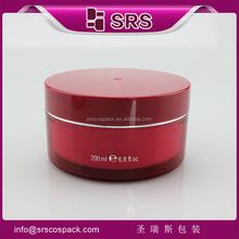 Red 50g acrylic jar for skin care cream, 5g 15g 30g 50g 100 red acrylic round luxury fashion cosmetic jar