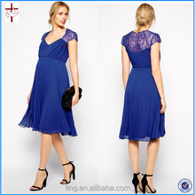 2015 new fashion lace party formal dresses for pregnant women clothes