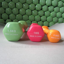 Colorful Vinyl Hex Dipping Dumbbell