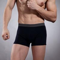New feshion Men Boxer 50%cotton 45%Modal 5%Spandex playboy boxer shorts for men