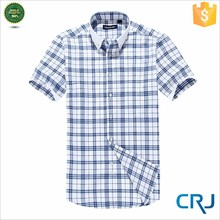 2015 New popular men's leisure check shirts