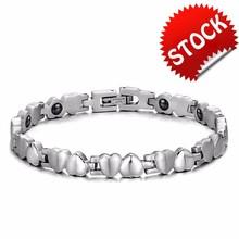 2015 New Hot Sale Fashion New Health Love Women's 316 titanium steel Heart type Bracelets for women