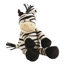 Custom sitting cute zebra stuffed animals