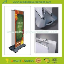 outdoor advertising display roll up banner with water tank base