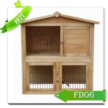 2-Storey Wooden Rabbit House Hutch
