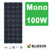 Bluesun Top standard and best efficiency photovoltaics solar panels mono 100w production with best price