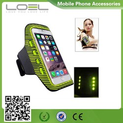 High Quality Sports Outdoor Armband, Led Flashlights Armband Case for iPhone/Samsung