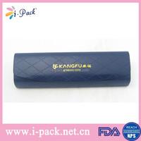 Personalized fancy pu leather handmade cosmetic folding eyelgasses case/optical glasses case/eyewear case bag