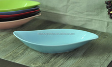 Unique Ceramic serving bowl, Ceramic fruit bow with multicolor, Ceramic bowl in boat shape