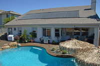 popular in USA Polypropylene solar panel swimming pool with less running cost