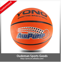 New style official size custom printed rubber basketball for training kids