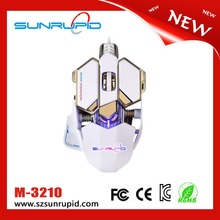 Programmable usb mechanical backlit gaming mouse, 10 buttons optical metal gaming mouse 4000DPI